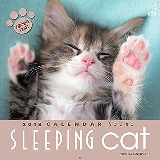 2018板東寛司 スリーピングキャット 猫写真壁掛けカレンダー