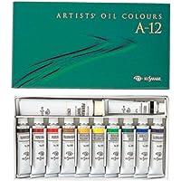 クサカベ 油絵具 専門家用 油絵具セット 12色セット A-12 20ml