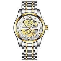 メンズトレンドウォッチファッション自動機械式時計中空時計防水メンズウォッチ (A1)