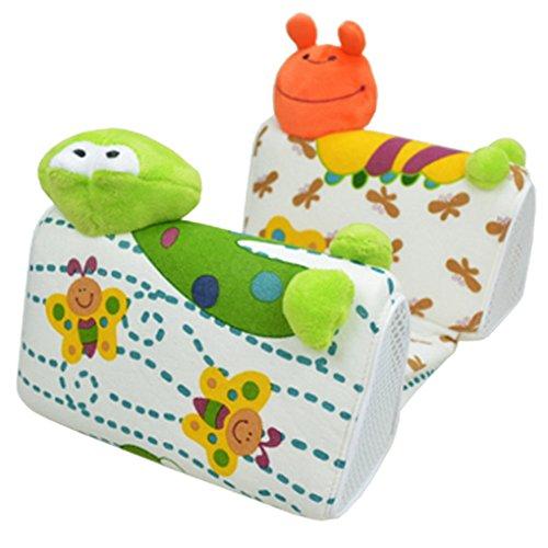 Happy Cherry 人気のベビー用品 赤ちゃん ベビー用ピロー 枕 オムツ替え時の 寝返り防止 授乳後の 吐き戻し防止 ステレオタイプ スリープポジショナー 綿 動物柄