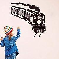 Faaddd アート壁デカールラブリー漫画電車柄ウォールステッカー取り外し可能な壁デカール用キッズルーム子供寝室の家の装飾
