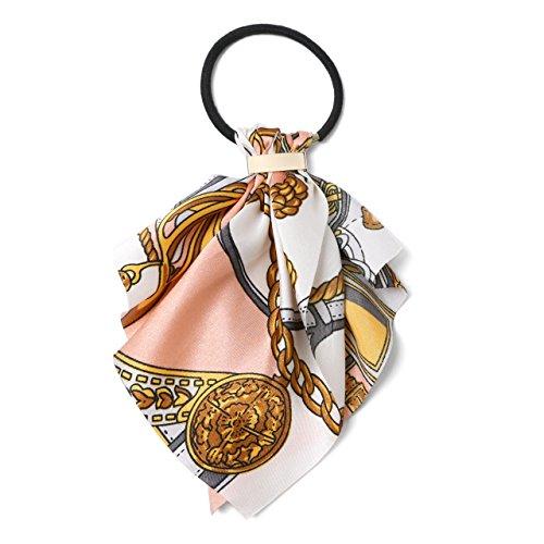 (エムエイチエー) M.H.A.style スカーフ リボンポニー レディース 髪飾り ヘアゴム トレンド 21559 B.ピンク