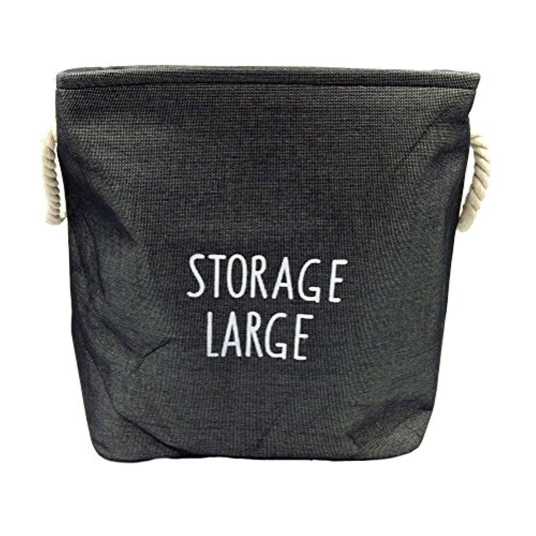 (ホワイトフェニックス) ランドリーバスケット 収納ボックス ランドリーバッグ 洗濯かご 折りたたみ wp-59 (c. ブラック)