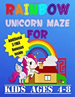 Rainbow Unicorn Maze For Kids Ages 4-8: Helping Unicorn Find Way Back Home Kids Activity Book (Mazes For Children)