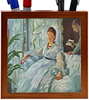 Rikki Knight Claude Monet Art the Lecture Design 5-Inch Wooden Tile Pen Holder (RK-PH3616) [並行輸入品]