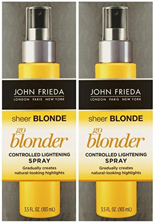 巨大あいさつ予防接種John Frieda シアーブロンドゴーBlonder制御ライトニングスプレー、3.5オンス、2 Pkを