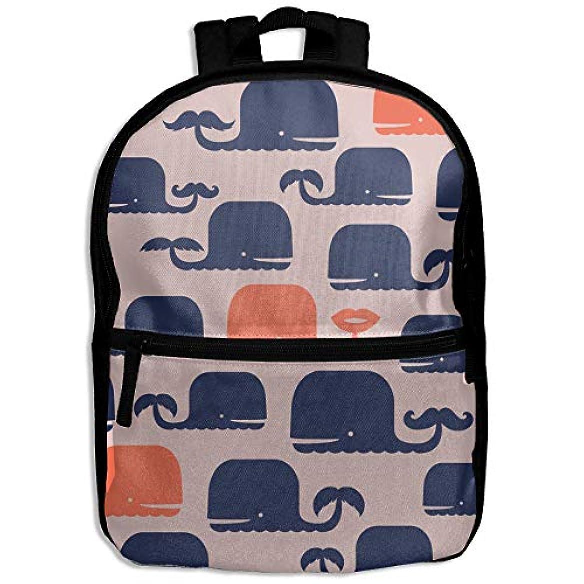 シールド親指出来事キッズバッグ キッズ リュックサック バックパック 子供用のバッグ 学生 リュックサック クジラ かわいい アウトドア 通学 ハイキング 遠足
