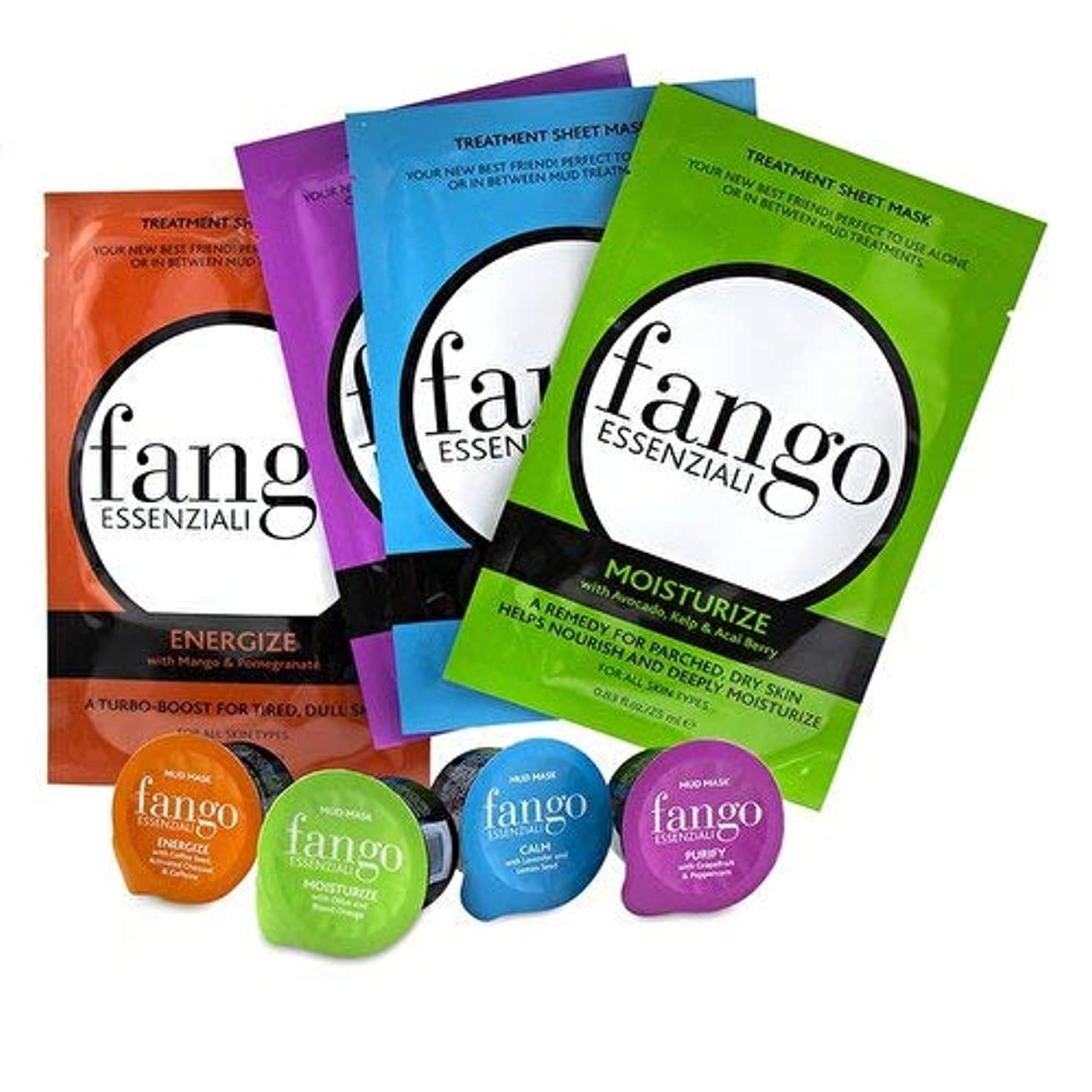 中止しますペース火山のボルゲーゼ The Fango Essenziali Collection (4x Sheet Mask 25ml/0.83oz, 4x Mud Mask 25g/0.89oz) -並行輸入品