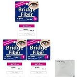 FD ブリッジファイバーⅡ (Bridge Fiber) クリア1.4mm×3個 + ヘアゴム(カラーはおまかせ)セット