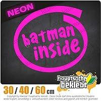 Batman inside - 3つのサイズで利用できます 15色 - ネオン+クロム! ステッカービニールオートバイ