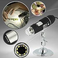 GVESS 1000xデジタル顕微鏡8LED 2MP USB顕微鏡内視鏡