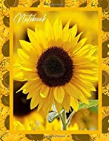 Notebook: Yellow Sunflower Beautiful Flower Writing Journal Notebook Lined / Ruled Blank Paper For Notes 100 pages Large (8.5 x 11)
