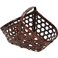 アビテ アジアン風 竹製バスケット バンブー小物カゴAタイプ M HZ-002-BR