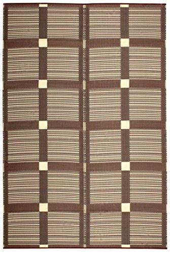 萩原 イ草 ブラウン 58間6畳(約264X352cm) 水洗いOK 日本製 「ガナッシュ」 15242460