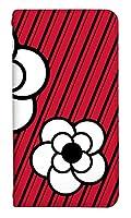 スマホケース 手帳型 ベルトなし l01k ケース 8008-C. 白赤カメリア L01K ケース 手帳 [V30+ L-01K] ブイサーティープラス