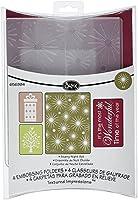 Sizzix Textured Impressions Embossing Folders 4PK - Starry Night Set by Rachael Bright [並行輸入品]