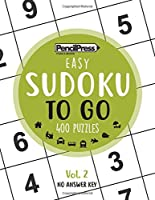SUDOKU TO GO (400 Puzzles, easy): Sudoku Puzzle Books for adults