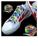 5ペア1.1M虹色のフラットキャンバスアスレチック靴ひも