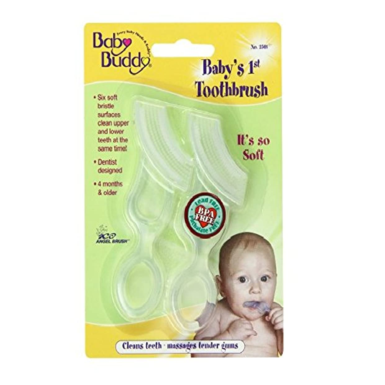 観察デジタルフェンスBaby Buddy Baby's 1st Toothbrush 2ct (Clear)
