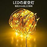 クリスマス Morpilot LEDライト イルミネーション 10m 100球 飾りライト 調整可能 防水 リモコン付き