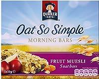 Quaker Oat So Simple Morning Bars Fruit Muesli (5x35g) クエーカーオーツはとてもシンプルな朝はフルーツミューズリー( 5X35G )をバー