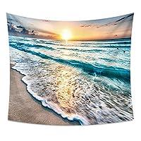 Chaopeng 波ビーチシリーズホームデコレーションタペストリー壁掛け壁の装飾ビーチタオル毛布 (Style : 2)