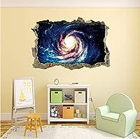 スターユニバースシリーズ3dルック壊れたウォールステッカー用キッズベビールーム寝室の家の装飾デカール壁画ポスター45 * 60センチ