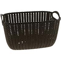 Fenteer 織り 収納用 バスケット ストレージ バスケット 軽量 多種選べる  - ブラウン, S