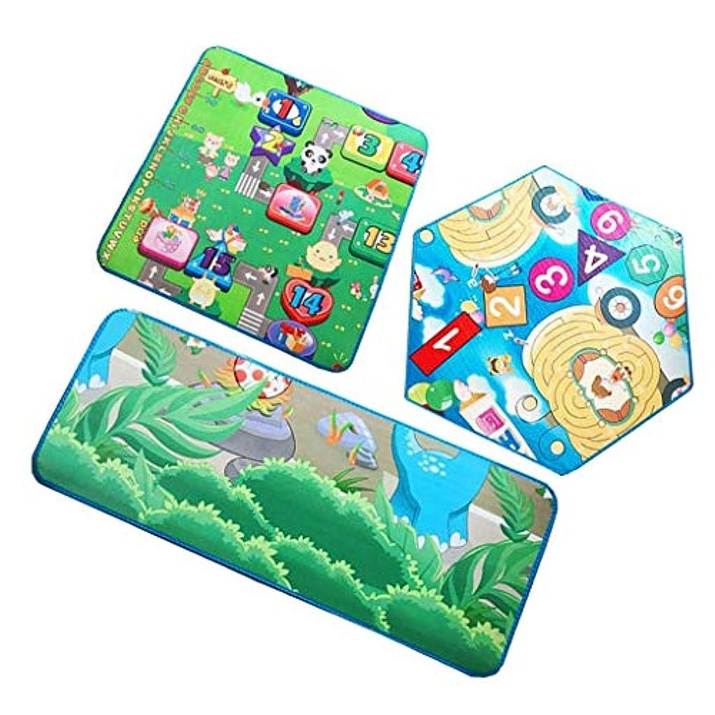 しわ心配する女性Toygogo 3ピース/個ヘキサゴンマットラグ、キッズプレイ用フォームカーペット、テントプレイハウス用プレイマット