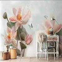 Xbwy カスタム壁画壁紙3D蓮の背景写真-280X200Cm