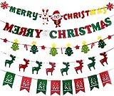 クリスマス バナー パーティー 飾り クリスマス サンタ ガーランド クリスマスツリー 壁飾り ショップ インテリア 可愛い デコレーション 雑貨 冬 (5 type)