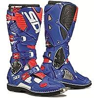 Sidi Crossfire 3TA Off Road Motorcycle Bootsホワイト/ブルー/ Flo Red ( Moreサイズオプション) US11.5/EU46 ブルー MOT-SID-C3T-WBFR-46