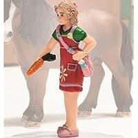 Schleich Girl Figure, Feeding 42134 by Schleich