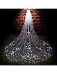 シュウクラブ- ベール韓国の花嫁のレースのレースの結婚式の花嫁のアクセサリーベールロングテール糸