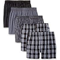 Gildan Platinum Men's Woven Boxer 5-Pack