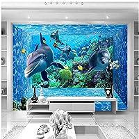 Xbwy カスタム3Dステレオ漫画水中世界壁画写真壁紙空間拡張パーソナリティ壁画壁紙家の装飾-280X200Cm
