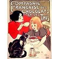 Steinlen Company French Chocolate Tea Cat Advert Unframed Wall Art Print Poster Home Decor Premium フランス語広告壁ポスターホームデコ