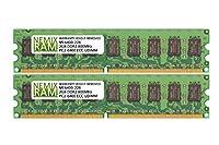 4GB (2x 2gb) ddr2–800MHz pc2–6400ECC UDIMM 2rx81.8Vアンバッファードメモリforサーバー/ワークステーション
