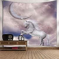 ペガサスの馬の頭掛け布団のタペストリーの壁の装飾ビーチのタオルのテレビの壁の壁のアート3Dデジタル印刷の壁のカバーホームベッドルームのリビングルームの子供部屋の壁画毛布 (Color : 008)