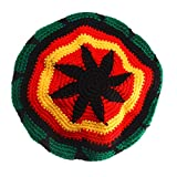 【ノーブランド品】 多色 ジャマイカ ラスタ ルーツ タム 帽子 ビーニー キャップ 編み物 お祝いの帽子 全2パターン - パターン1