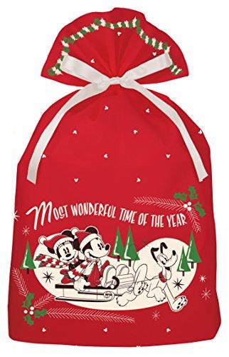 インディゴ ディズニー ミッキー クリスマスバッグ3L ミッキー/ワンダフルタイム レッド DG097