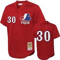 Tim Raines Montreal Expos # 30メッシュメンズMitchell & Ness 1989 Authentic Batting Practice Jersey ( Medium )