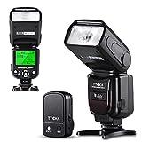 Tycka フラッシュ・ストロボ スピードライト 2.4Gワイヤレストリガーリモート LCDディスプレイ 過熱保護 標準的なホットシュー付き Canon Nikon Sony Panasonic Olympus Pentax DSLRカメラ対応