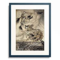 アーサー・ラッカム Arthur Rackham 「The Ingoldsby Legends': Frontispiece.」 額装アート作品