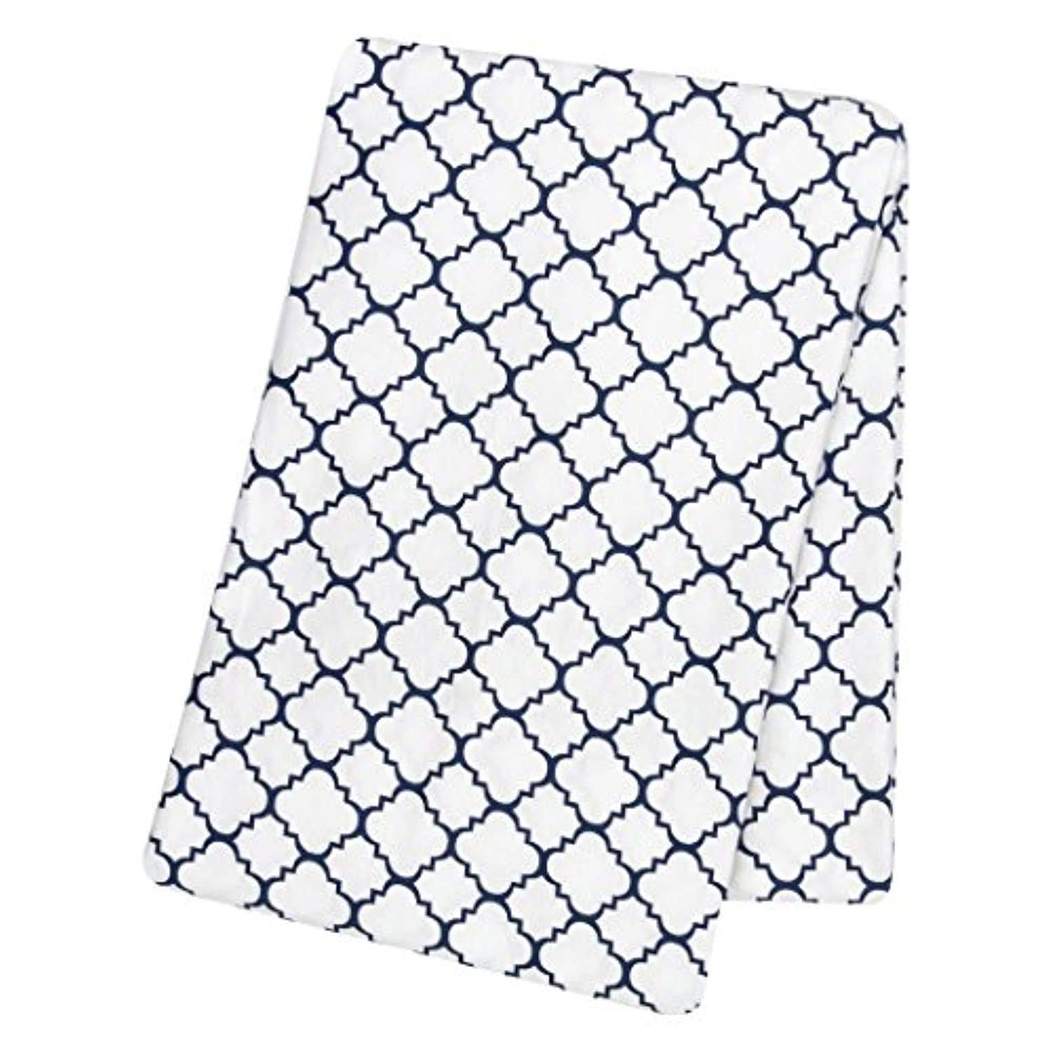 Trend Lab Navy Quatrefoil Deluxe Flannel Swaddle Blanket by Trend Lab