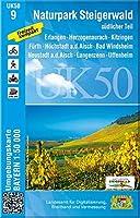Naturpark Steigerwald suedlicher Teil 1 : 50 000 (UK50-9): Erlangen, Herzogenaurach, Kitzingen, Fuerth, Hoechstadt a.d.Aisch, Bad Windsheim, Neustadt a.d.Aisch, Langenzenn, Uffenheim