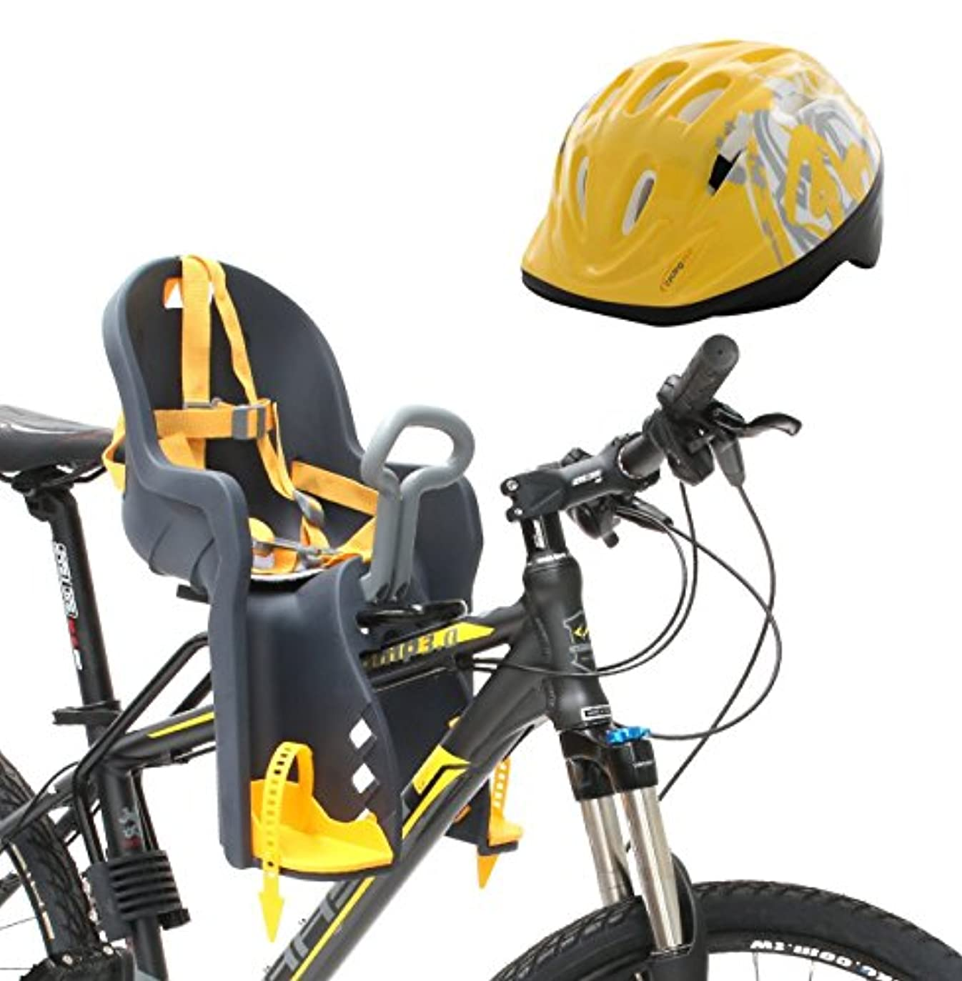 ラフ睡眠キャンペーン煙突Bike Front Baby Seat Carrier with Handrail and Helmet by CyclingDeal