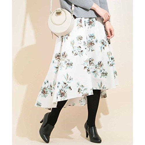 MK ミッシェルクラン(MK MICHEL KLEIN) 【洗濯機で洗える】花柄イレギュラーヘムフレアースカート