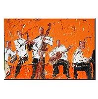 Liwendi ロックジャズ音楽家の装飾壁の芸術絵画キャンバスアート写真アフリカの油絵用バーキッチンルームの装飾60 * 90センチ