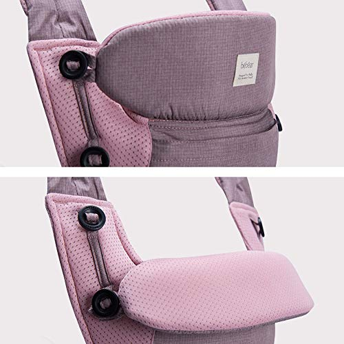 Bebamour Baby Carrier Sling 3 in 1 Ergonomic Baby Carrier Backpack Breathable and Soft Baby Warp for Infant and Toddlers (Pink)
